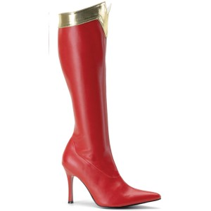 Wonder Knee High Adult Boots - Red / 7