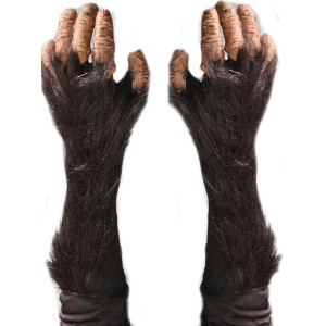 Adult Chimp Gloves - Black / One-Size