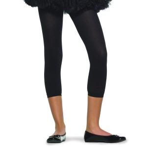 Black Footless Tights Child - Black / Large (7/10)