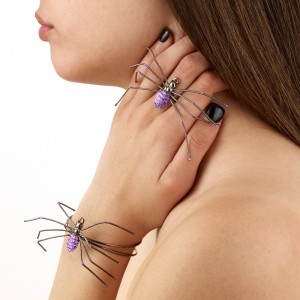 Spider RingBracelet Light Purple - Purple / One Size