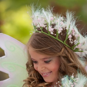 Spring Fairy Child Hair Garland - Pink / One Size