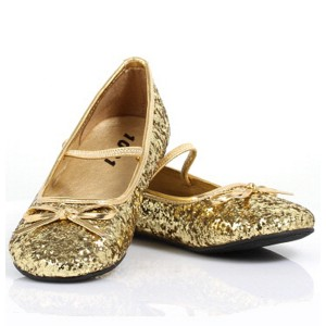 Sparkle Ballerina Gold Child Shoes - Gold / X-Small (9/10)
