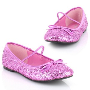 Sparkle Ballerina Pink Child Shoes - Gold / X-Small (9/10)
