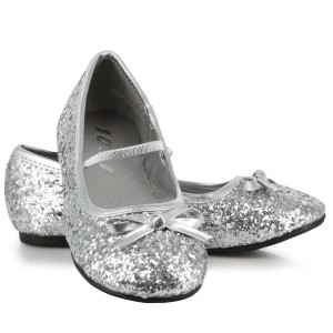 Sparkle Ballerina Silver Child Shoes - Silver / X-Small (9/10)
