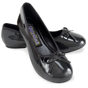 Ballet Flat Black Child Shoes - Black / Large (2-3)