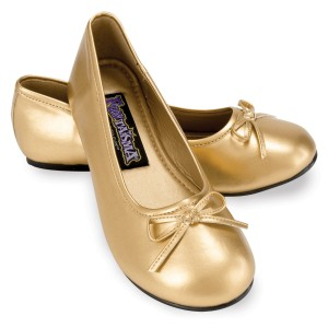 Ballet Flat Gold Child Shoes - Gold / X-Large (4/5)
