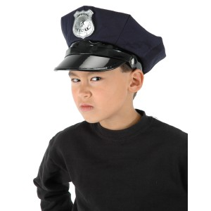 Police Chief Child Hat - Black / One-Size