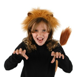 Lion Ears and Tail - Brown / One-Size