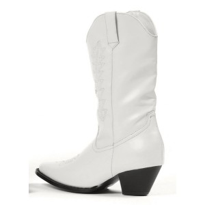Rodeo White Child Boots - White / Medium (13/1)
