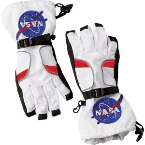 NASA Jr. Astronaut Child Gloves - White / Medium (8-10)