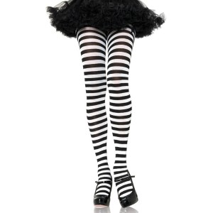 Striped Tights Adult - Black/Purple