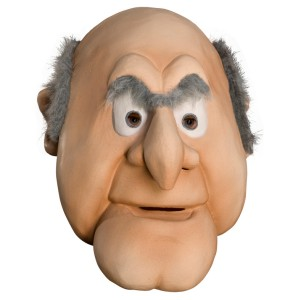 The Muppets Statler Overhead Latex Mask - Tan / One-Size