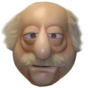 The Muppets Waldorf Overhead Latex Mask - Tan / One-Size