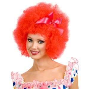 Red Clown Adult Wig - Red / One Size