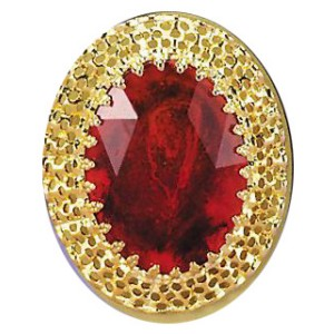 Giant Ruby Ring - Red / One-Size