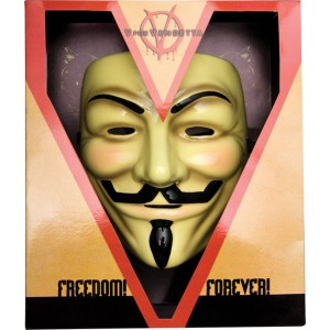 V for Vendetta Collector's Edition Mask - Black / One-Size