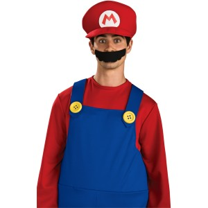 Deluxe Mario Hat Adult - Red / One Size