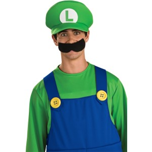 Deluxe Luigi Hat Adult - Green / One Size