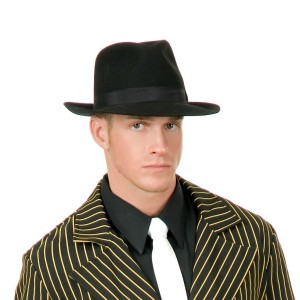 Fedora Men's Black Adult - Black / One-Size
