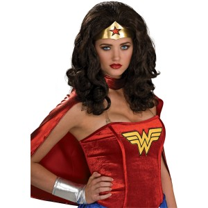 Wonder Woman Adult Wig - Black / One-Size