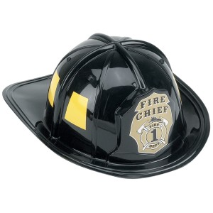 Children's Firefighter Helmet - Black / One Size