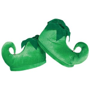 Deluxe Elf Shoes Adult - Green / One-Size