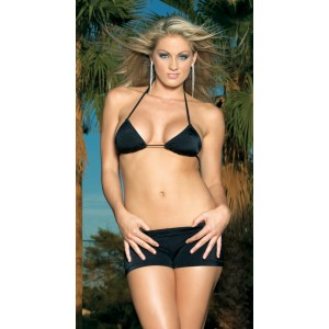 Black Hot Pants Adult - Black / Medium