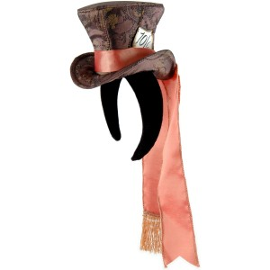 Alice In Wonderland Movie - Cocktail Mad Hatter Hat Adult - Brown / One-Size