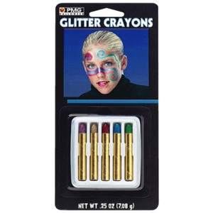 Glitter Makeup Crayons - Red / One-Size