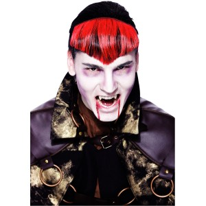 Gothic Widows Peak Red Hairpiece Adult