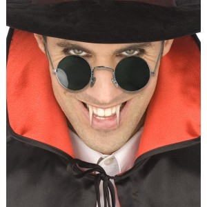 Round Vampire Adult Glasses - Red / One-Size