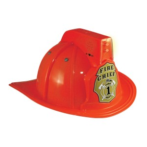 Jr. Fire Chief Helmet with Lights Child - One Size