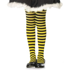 Striped BlackYellow Child Tights - Yellow / 4-6