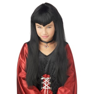 Vampire Girl Wig Child - Black / One-Size