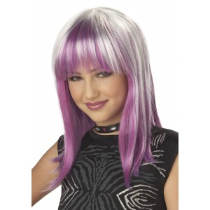 Prismatic Pink and Purple Wig Child