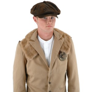 Steampunk Driver Brown Suede Hat Adult