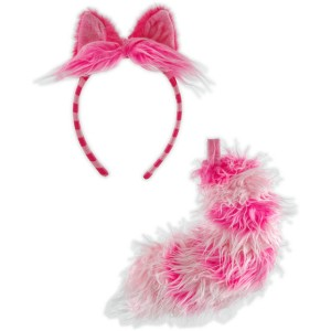 Alice in Wonderland - Cheshire Cat Accessory Set Adult - Pink / One-Size