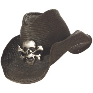 Cowboy Hat Black Adult - Black / One-Size