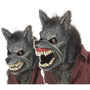 Werewolf Ani-Motion Adult Mask - Brown / One-Size