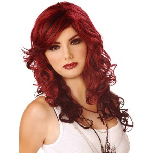 Rock Vixen Burgundy/Black Adult Wig