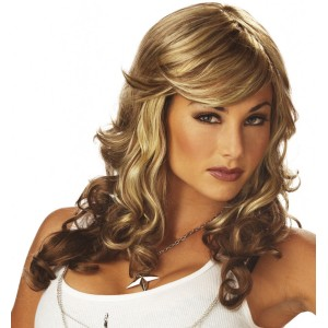 Rock Vixen Blonde/Brown Adult Wig