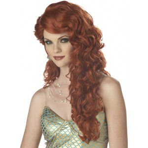 Mermaid Auburn Adult Wig - Red / One-Size