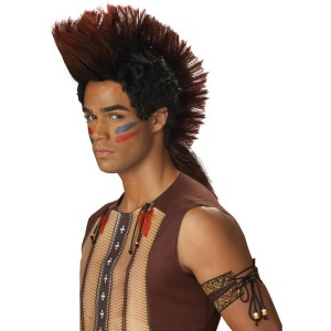 Indian Warrior Adult Wig - Brown / One-Size