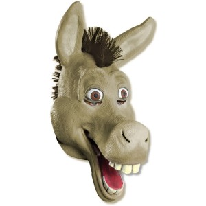 Shrek Forever After - Donkey 34 Vinyl Adult Mask - Brown / One-Size