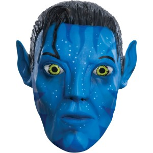 Avatar Movie Jake Sully 3/4 Vinyl Adult Mask - Blue / One-Size