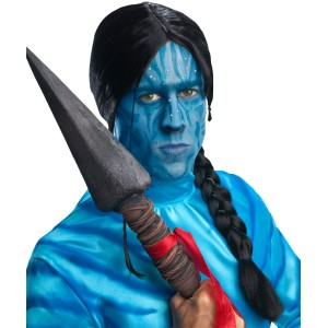 Avatar Movie Jake Sully Adult Wig - Black / One-Size