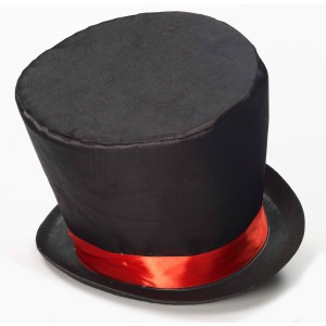 Mad Hatter Adult Top Hat - Black / One Size Fits Most Adults