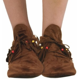 Hippie Women's Adult Moccasins - Brown / One Size Fits Most Women