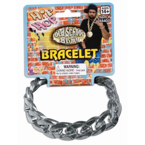 Hip Hop Big Links Metal Bracelet - Silver