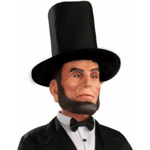 Abraham Lincoln Latex Adult Mask - Black / One Size Fits Most Adults